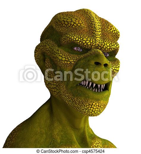 Reptilian Alien Portrait - csp4575424