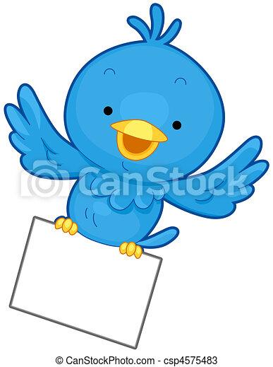 Bird Message - csp4575483