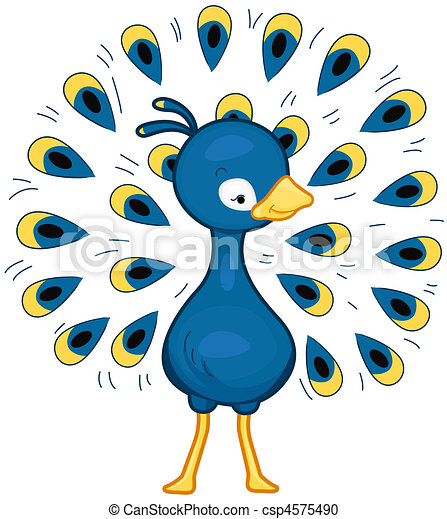 Peacock With its Feathers Spread Out Wide csp4575490 - Search Clipart ...