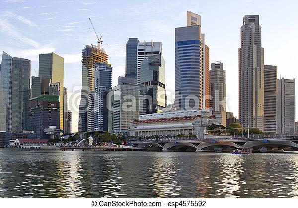 Merlion Park in Singapore 3 - csp4575592