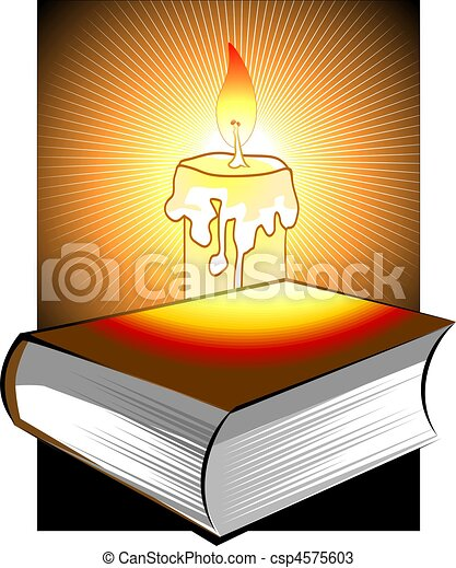 bible and candle light - csp4575603