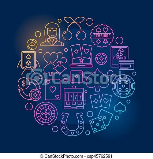 Colorful casino illustration - csp45762591