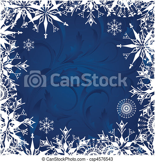 Background with frosty patterns - csp4576543