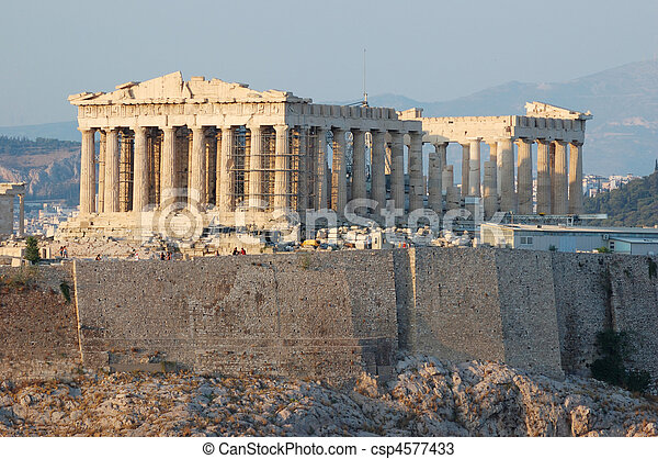 Parthenon temple in Greece,the place where democracy was born - csp4577433