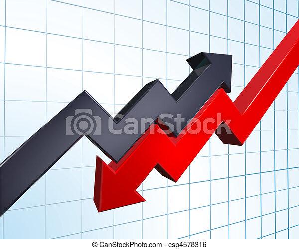 profit and loss illustration - csp4578316