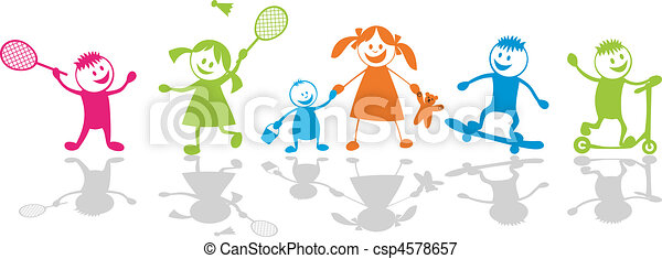 Happy playing children.Sport - csp4578657