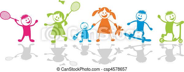 Happy playing children.Sport - csp4578657