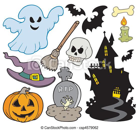Imagens, jogo, dia das bruxas - csp4579062