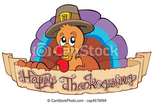 Happy Thanksgiving theme 1 - csp4579069