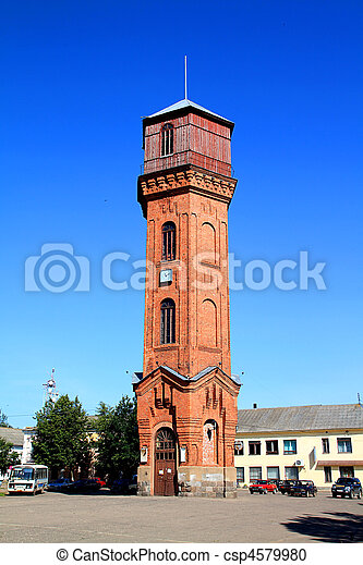 old-time water tower - csp4579980
