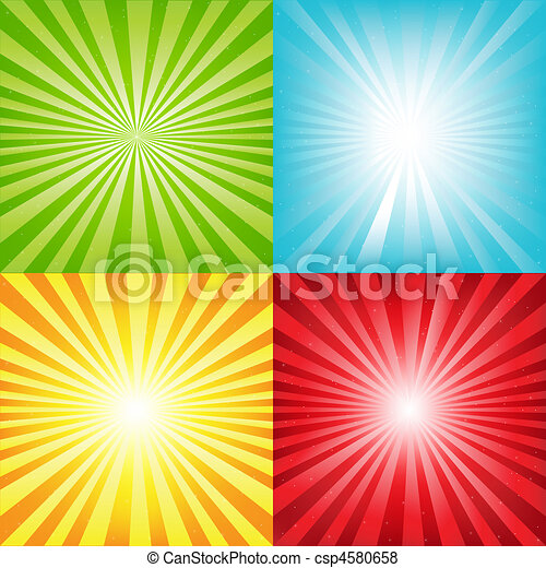 Bright Sunburst Background With Beams And Stars - csp4580658