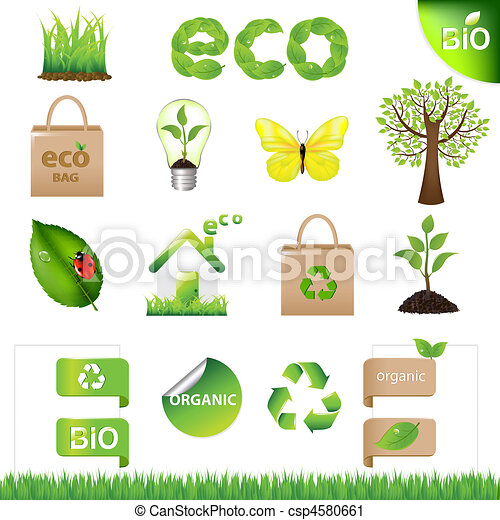 Collection Eco Design Elements And Icons - csp4580661