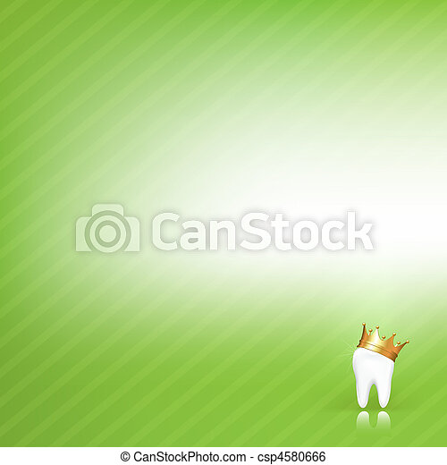 Dental Vector Background With Tooth - csp4580666