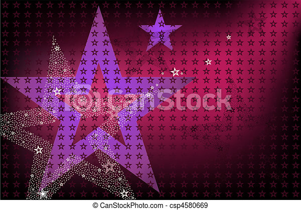 Disco Bright Background With Stars - csp4580669