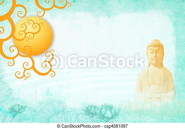 Buddah meditation - csp4581097