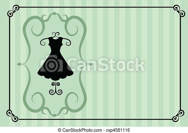 fashion shop. retro template design  - csp4581116