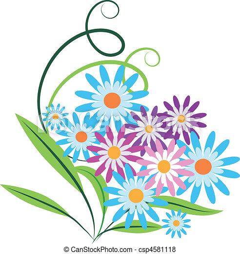 vecteur de bouquet printemps fleurs bouquet de printemps fleurs csp4581118 recherchez. Black Bedroom Furniture Sets. Home Design Ideas