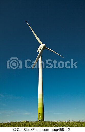 Wind Turbine - alternative and green energy source  - csp4581121