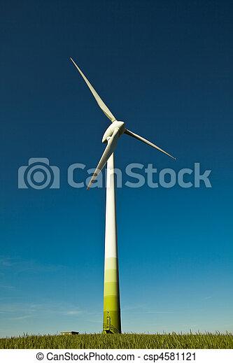 Wind Turbine - alternative and green energy source  - csp4581121