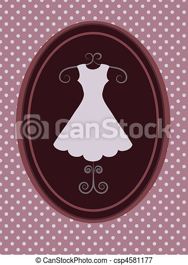 rerto dress, fashion shop. vector illustration -1 - csp4581177