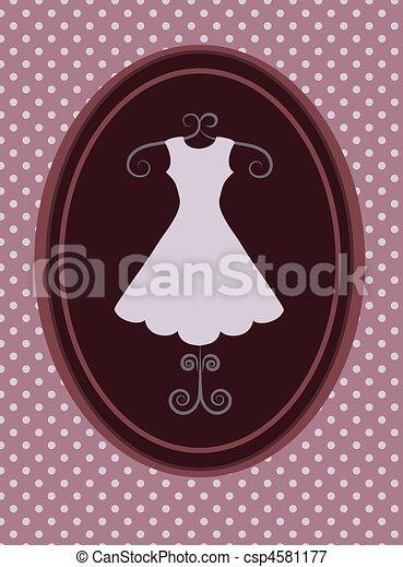 rerto dress, fashion shop. vector illustration -1 - csp4581177