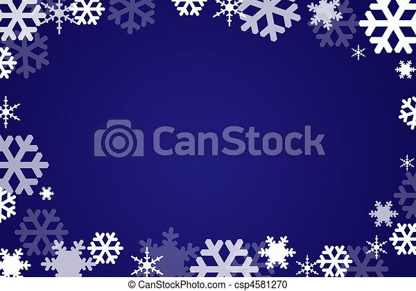 Snow flakes background - csp4581270