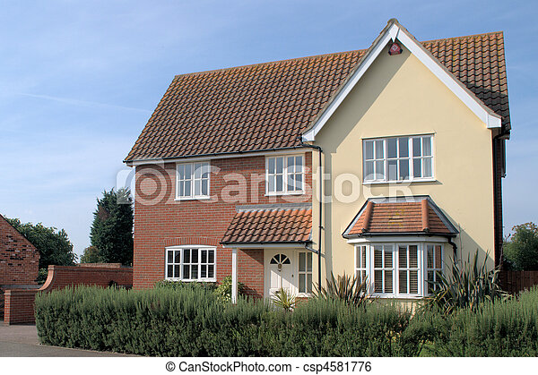 Typical Uk Executive Home - csp4581776