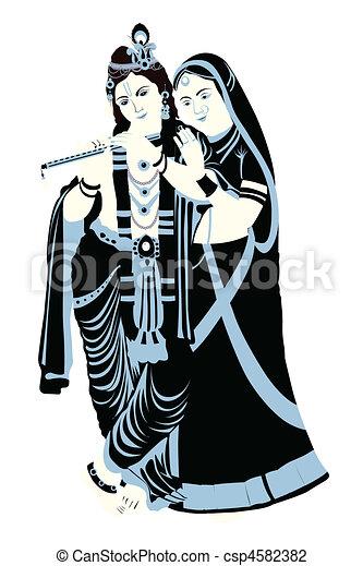 radha krishna - csp4582382