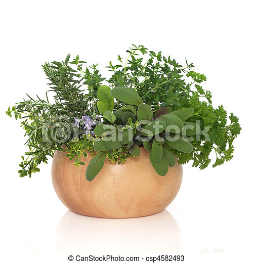 Parsley Sage Rosemary and Thyme Herbs - csp4582493