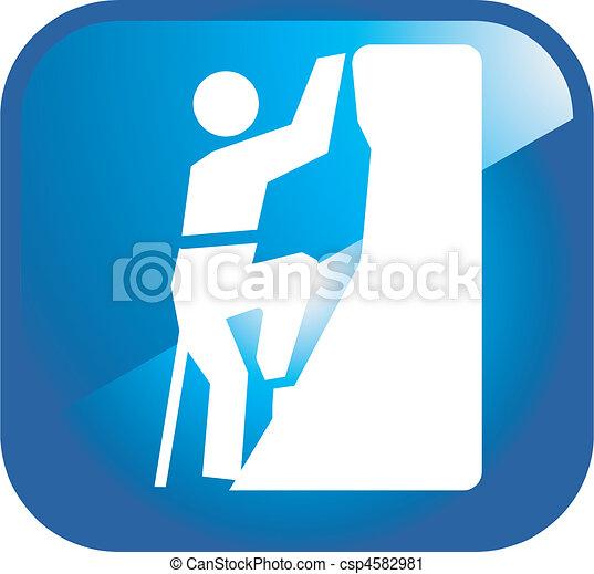 climbing icon - csp4582981
