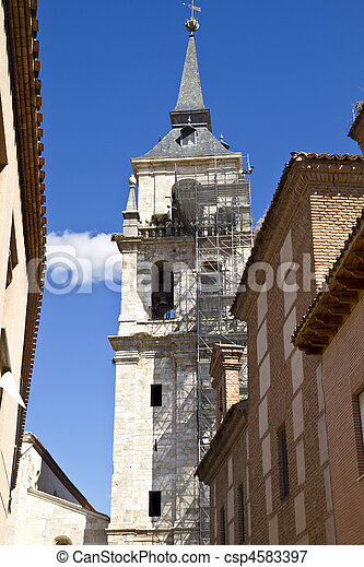 Catedral de Alcala de Henares, in rehabilitation - csp4583397