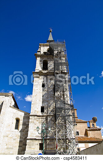 Catedral de Alcala de Henares, in rehabilitation - csp4583411
