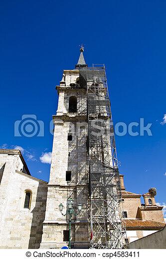 Catedral de Alcala de Henares, in rehabilitation - csp4583411