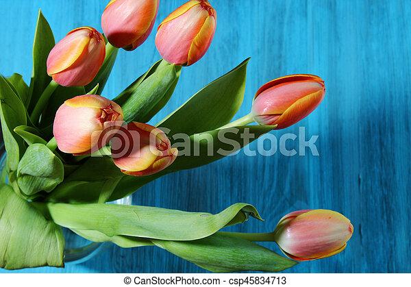 A bunch of orange Tulips - csp45834713