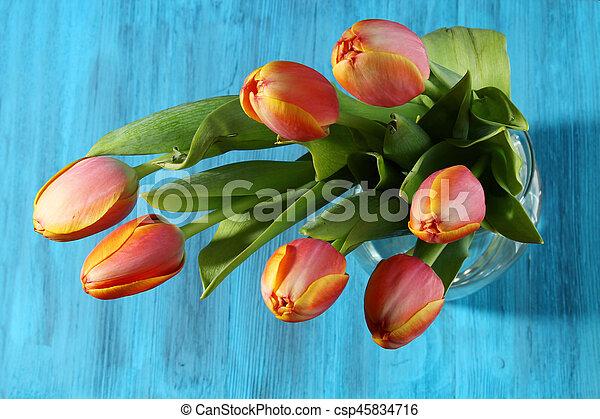 A bunch of orange Tulips - csp45834716