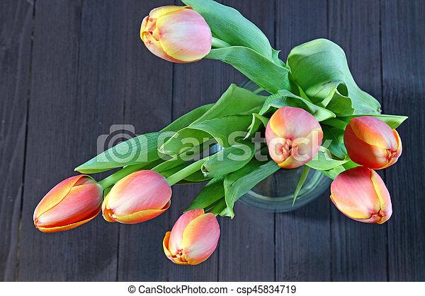 A bunch of orange Tulips - csp45834719