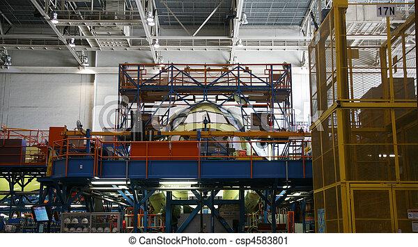 Airplane Fuselage During Manufacturing - csp4583801
