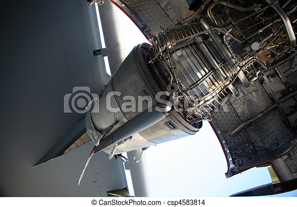 C-17 Military Aircraft Engine - csp4583814