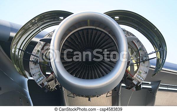 motor, militär, Flygplan,  C-17 - csp4583839