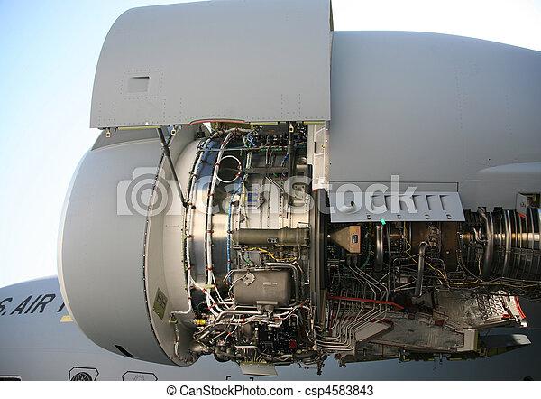 C-17 Military Aircraft Engine C-17 Military Aircraft Engine  - csp4583843