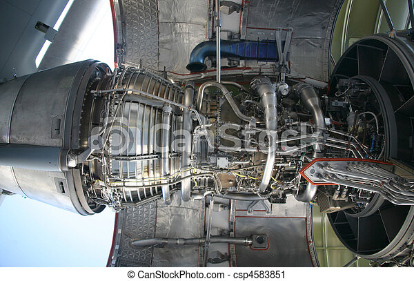 C-17 Military Aircraft Engine - csp4583851