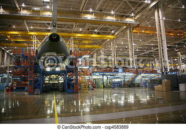 Airplane Manufacturing Facility - csp4583889