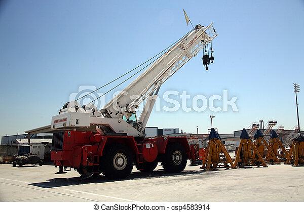 Cargo Shipping Crane in Aerospace Plant - csp4583914