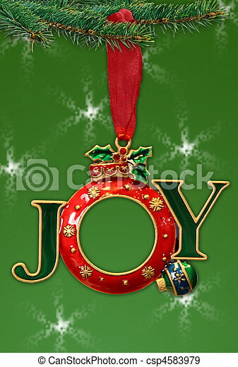 Beautiful Isolated Holiday Ornament Frame - csp4583979