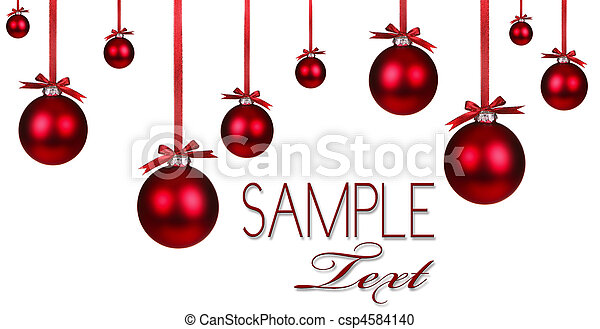 Red Christmas Holiday  Ornament Background - csp4584140