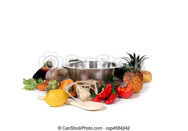Cooking With Food Fantasy Photo Background for Digital Manipulation - csp4584242