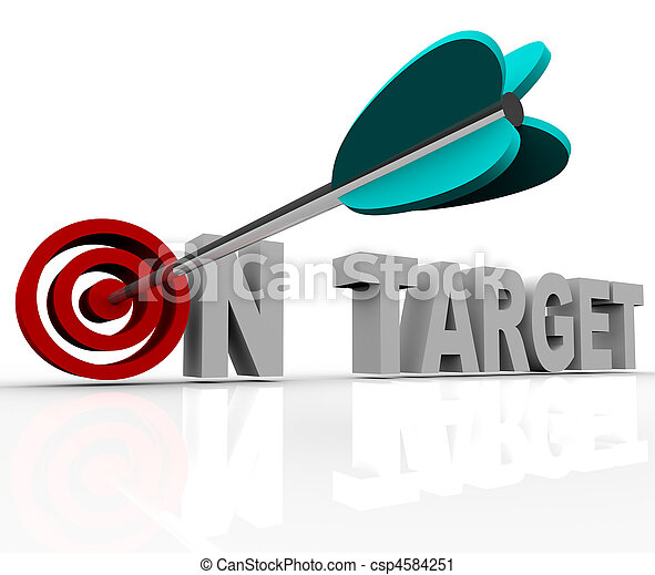On Target - Arrow on Bulls-Eye - csp4584251