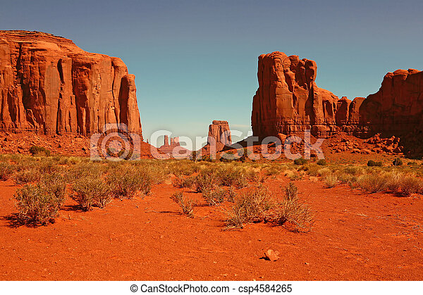 Buttes in Monument Valley Arizona - csp4584265