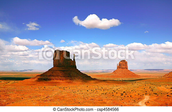 Beautiful Landscape of  Monument Valley Arizona - csp4584566