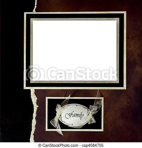 Handmade Scrapbook Paper Page Layout to Insert Your Images - csp4584755